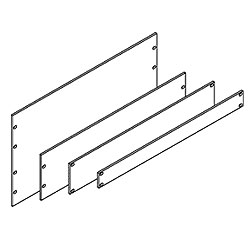 Chatsworth Products Filler Panel - 3/16