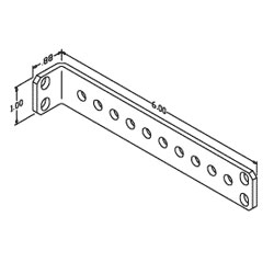 Chatsworth Products Aluminum Stand-Off Tie Bracket