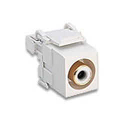 Leviton RCA 110-Type QuickPort Audio Connector with  White Barrel