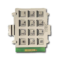 Ceeco Bracket Mount Alphanumeric Keypad with Braille Buttons