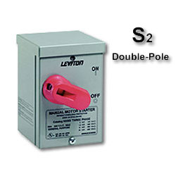 Leviton Double-Pole 3R Enclosure Manual Motor Starting Switch