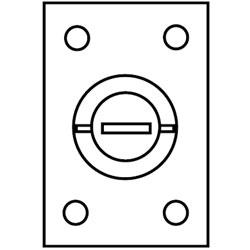 Hubbell Rectangular Brass Cover Plate