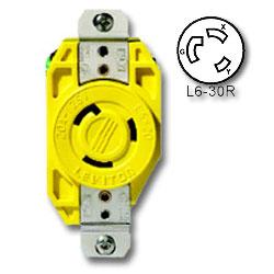 Leviton 30 Amp 250V Single Locking Flush Receptacle