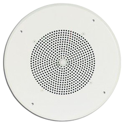 Bogen 8 Inch Cone Loudspeaker Assembly with 6 oz. Magnet and Volume Control with Knob, Bright White