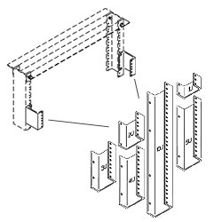 Chatsworth Products Rack Channel Standoffs - 1 1/2