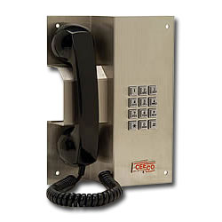 Ceeco Multi-Number Autodialing Stainless Steel Panel Phone