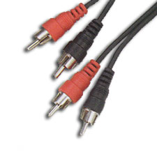 Leviton Stereo Shielded Cable, 2 RCA Plugs to 2 RCA Plugs