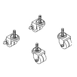Southwest Data Products Series 2000 Heavy Duty Locking Caster Set