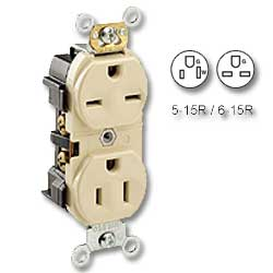 Leviton Back and Side Wired Dual Voltage Duplex Receptacle