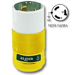 Leviton 50Amp 125V Locking Non-NEMA Plug