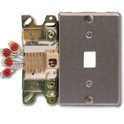 Suttle CorroShield Stainless Steel 6-Conductor Wallplate with ScotchLock Terminals & Mounting Lugs