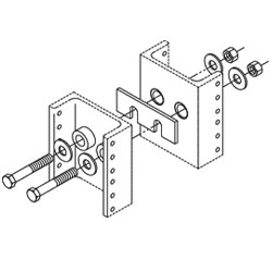 Chatsworth Products Rack Line-Up Spacer Kit For Universal Racks