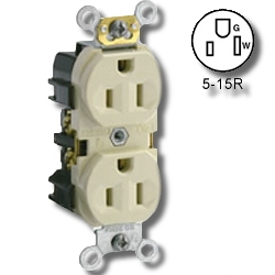 Leviton Narrow Body Duplex Receptacle
