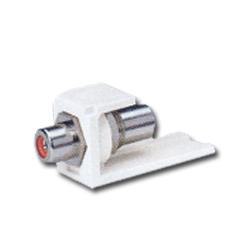Panduit® Mini-Com RCA Pass-Through Module - Red Insert