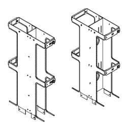 Chatsworth Products Two-Foot Double-Sided Vertical Cabling Section Extensions