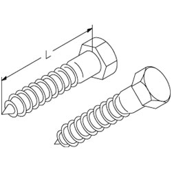 Chatsworth Products Hex Lag Screw