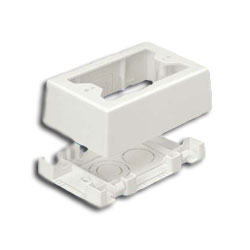 Panduit® Single Gang Two-Piece Snap Together Outlet Box
