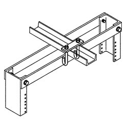 Chatsworth Products J-Bolt Kit, Auxiliary Framing Channel/Rack Top Angle