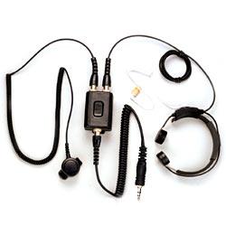 Pryme Heavy Duty Throat Mic for Ef Johnson Radios
