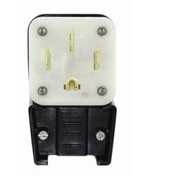 Leviton 125/250V Flush Mount Receptacle Matching Angle Plug