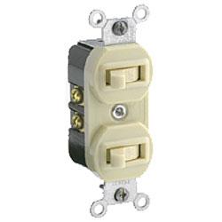 Leviton 2 Single-Pole Switches, Non-Grounding