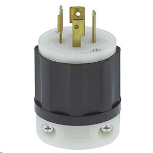 Leviton 20 AMP 3 Phase 250V 3-Pole 4-Wire Grounding Locking Plug (Package of 10)