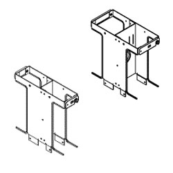 Chatsworth Products One-Foot Double-Sided Vertical Cabling Section Extensions