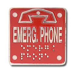 Ceeco Braille Emergency Plate