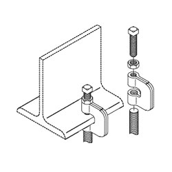 Chatsworth Products Threaded Rod I-Beam Clamps, Cable Runway