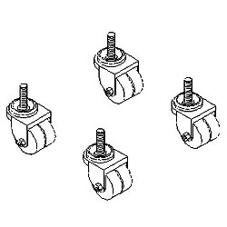 Southwest Data Products Series 2000 Heavy Duty Caster Set