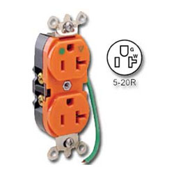 Leviton Insolated Ground Duplex Receptacle with 6