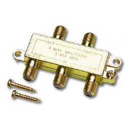 Allen Tel Coaxial Splitter - 4 Way
