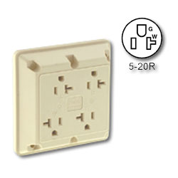 Leviton Four-In-One 2-Pole 3-Wire Grounding 20A/125V Receptacle