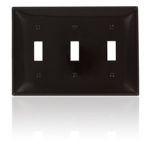Leviton Commercial Grade Nylon Wallplates 3-Gang