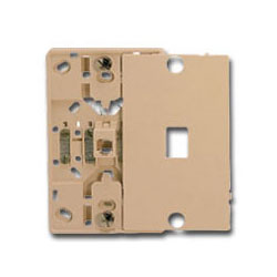 Suttle 6-Conductor Plastic Wallplate with Screw Terminals & Snap-On Cover
