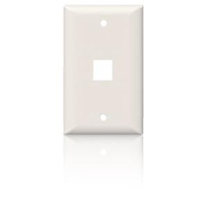 Suttle SpeedStar 1 Port Single Gang Smooth Faceplate White