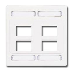 Siemon Double Gang Faceplate for 8 MAX Modules
