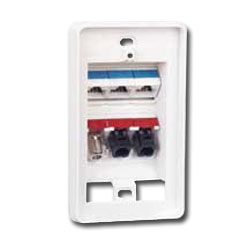 Siemon Tamper-Proof MAX Faceplate for 6 Modules