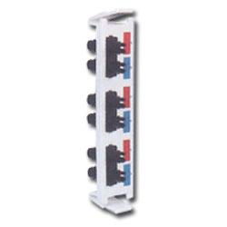 Siemon Flat Quick-Pack 3 Duplex ST Adapter Plate (6 Fibers)