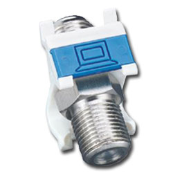 Siemon Coax MAX Angled Module with 1 F-Type Adapter