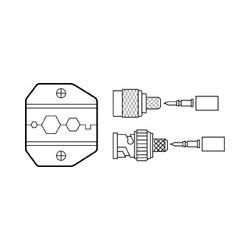 Ideal Die Set, Combo RG-58, RG-59/62, BNC/TNC, for Crimpmaster Crimp Tool Frame 30-502