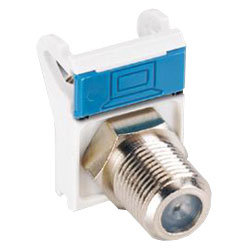 Siemon Coax MAX Flat Module with 1 F-type Adapter