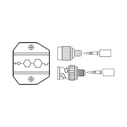 Ideal Die Set, RG-58/RG-174 cable for 50 and 75 Ohm cables for Crimpmaster Tool Frame 30-484