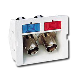 Siemon Angled Coax CT Coupler with 2 BNC Adapters