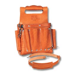 Ideal Tuff-Tote Tool Pouch with Shoulder Strap, Premium Leather Model