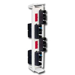 Siemon Flat Quick-Pack 4 Duplex SC Adapter Plate (8 Fibers)