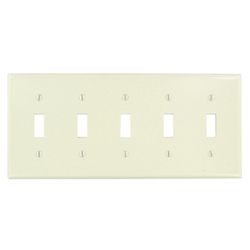 Leviton 5-Gang Toggle Device Switch Wallplate