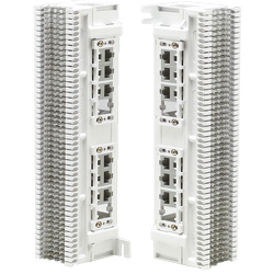 Siemon Twelve 8-Position, 4 Pair Modular Jacks