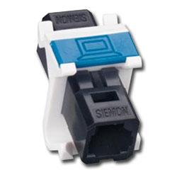 Siemon MAX Fiber Adapter Angled Module with 1 Duplex MT-RJ Adapter (2 Fibers)
