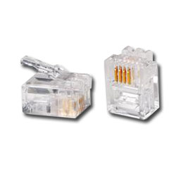 Siemon 6-Position Modular Plug with 4 Contacts